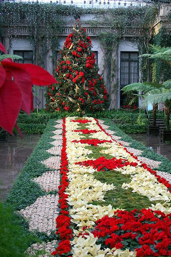 Decora o e projetos ideias de decora o de natal para jardim - Decorazioni natalizie per esterno ...