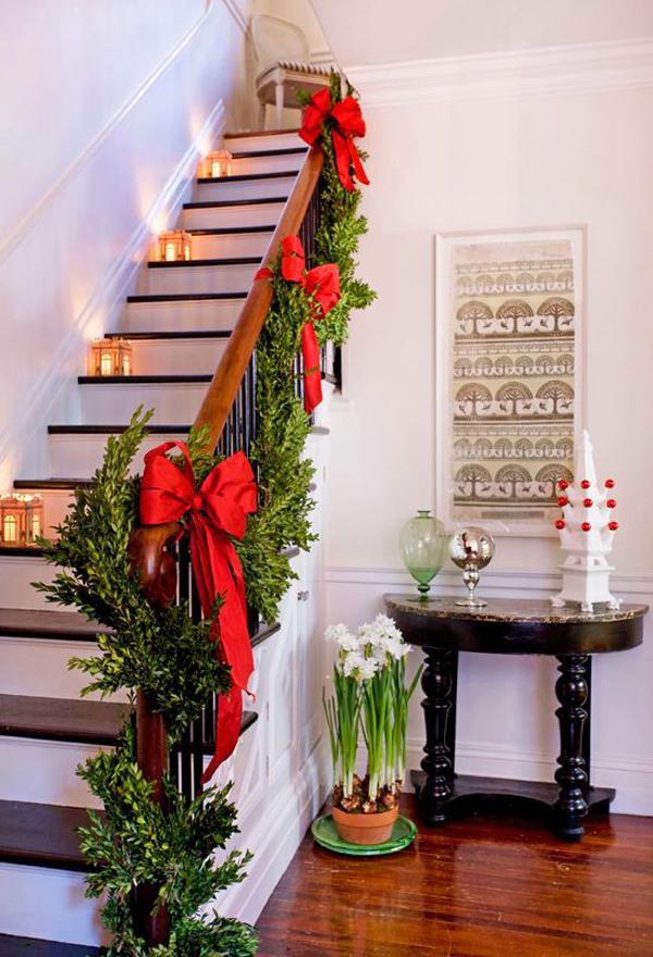 Decoração de Natal para Escadas