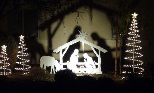 Decoraç u00e3o e Projetos Decoraç u00e3o de Jardim com Presépios de Natal -> Decoração De Natal Jardim