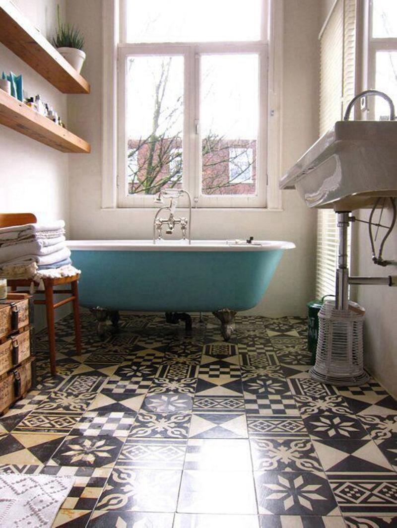 Dicas de Decoração de Banheiros com Azulejos Antigos