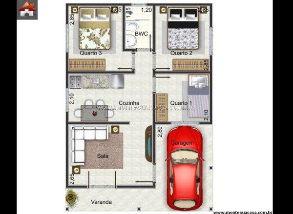 Dicas de Projetos de Casas Pequenas com Garagem