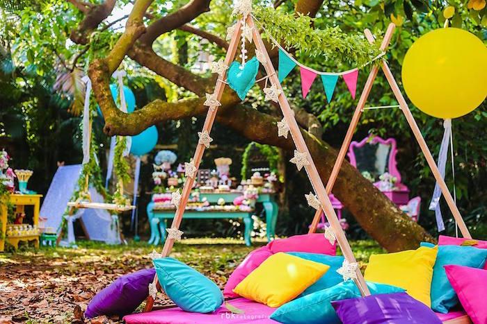 decoração de festa no parque