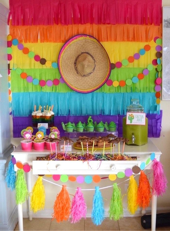 decoração de festa colorida