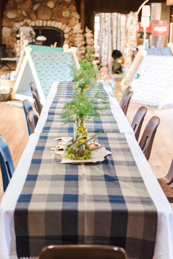 mesa decorada para festa