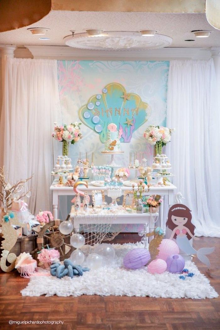 festa infantil sereia