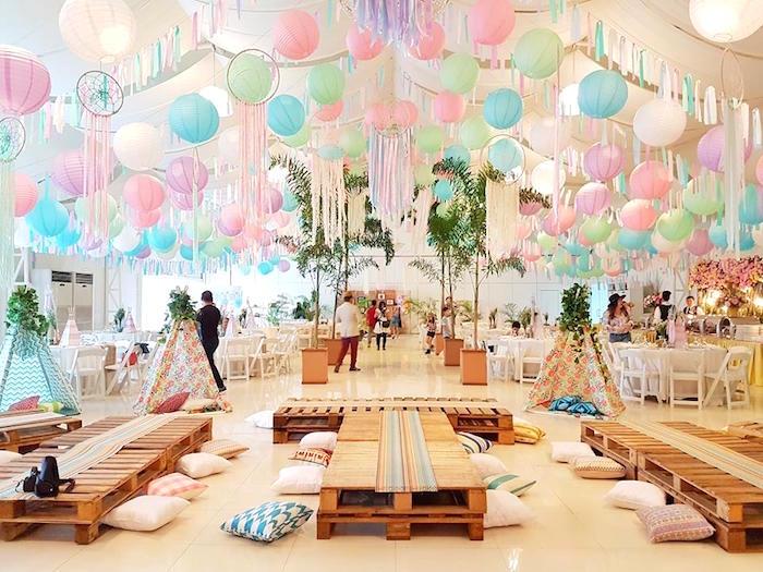 decoração sustentável para festa