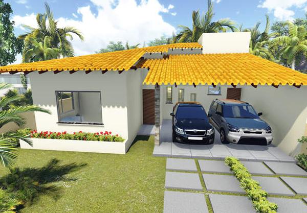 fachada com garagem grande