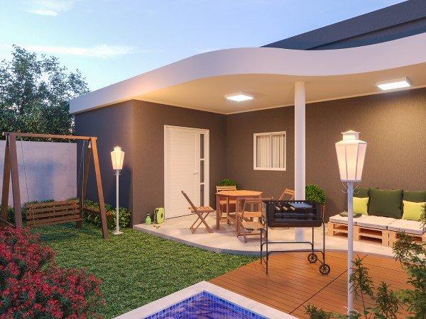 fachadas de casas simples com jardim