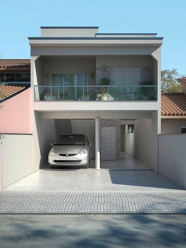 ideias de fachadas sobrado simples
