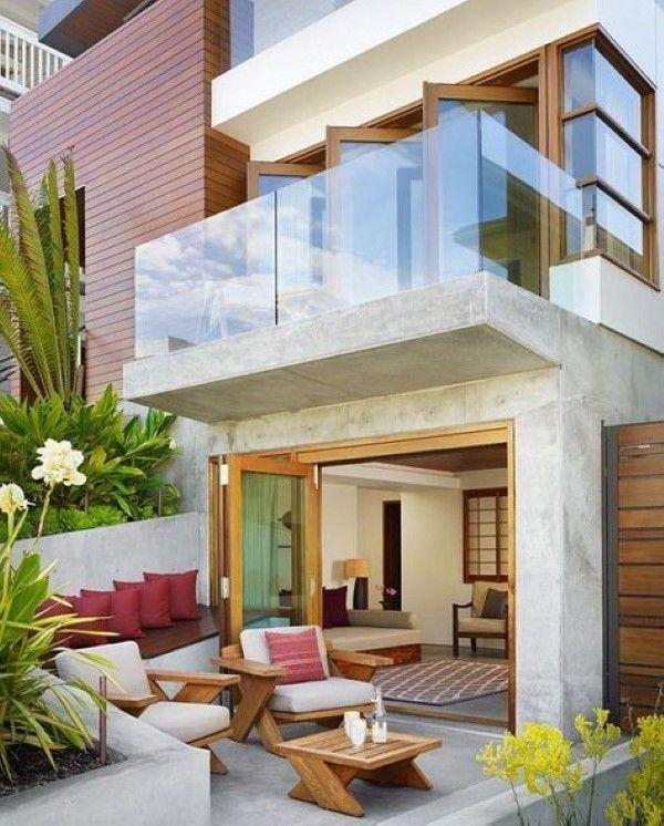 telhados e fachadas de casas simples