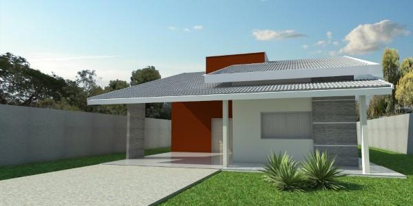 fachadas de casas simples e elegantes