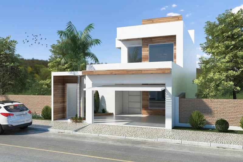 fachadas de casas modernas e simples
