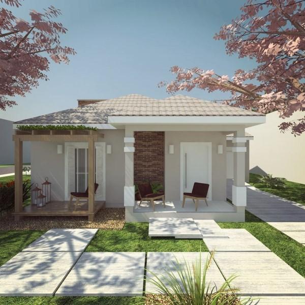 Decora o e projetos fachadas de casas simples com varanda for Foto casa classica