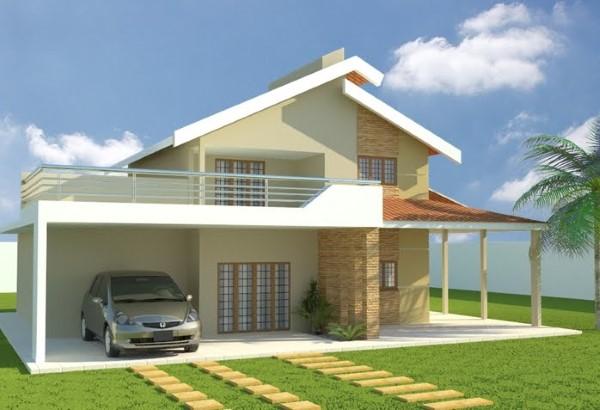 fachadas de casas simples em l