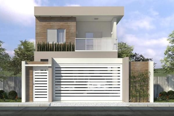 Decora o e projetos fachadas de casas simples com varanda for Casa moderna 80m2