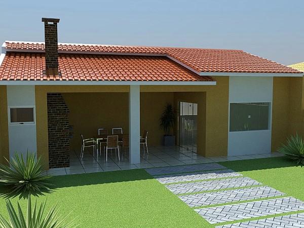 fachadas de casas estreitas simples