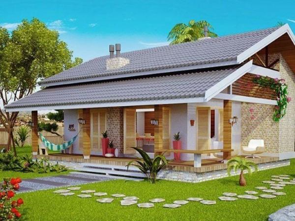 fachadas de casas terreas simples