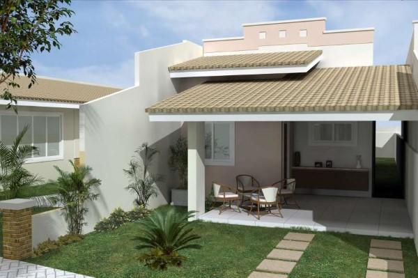 frente de casas pequenas e bonitas Fachadas De Casas Simples Com Varanda 60 Fotos Modelos Com