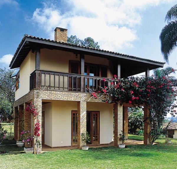fachadas de casas com madeira