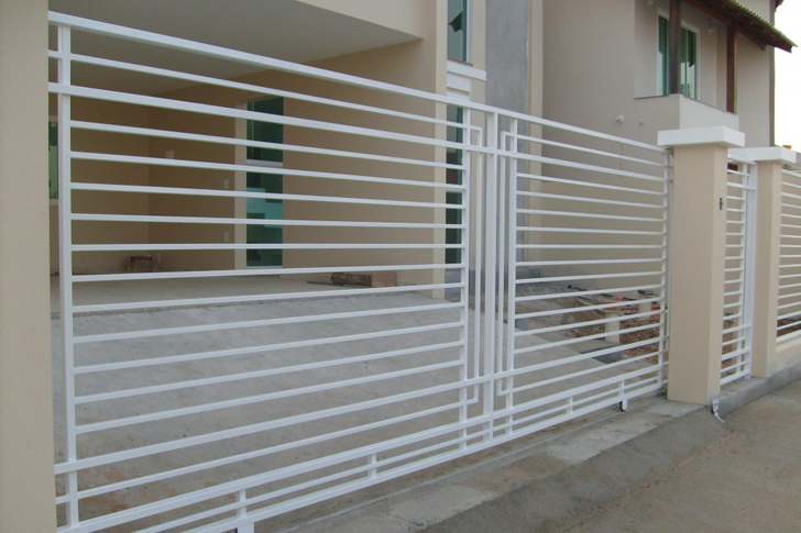 portão residencial com grade aberta