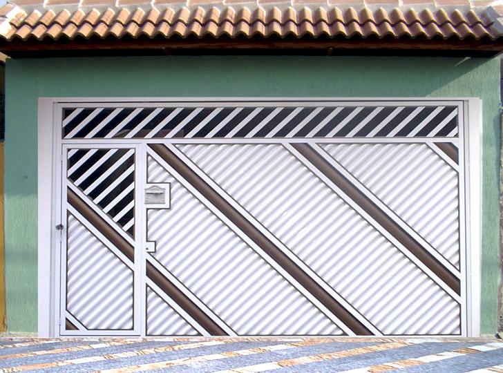 portão residencial em diagonal