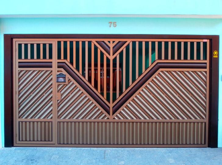 portão residencial colorido