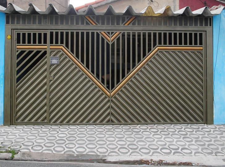 portão residencial com abertura superior
