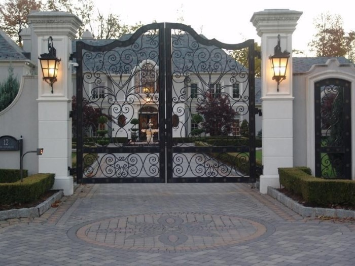 portões de duas folhas