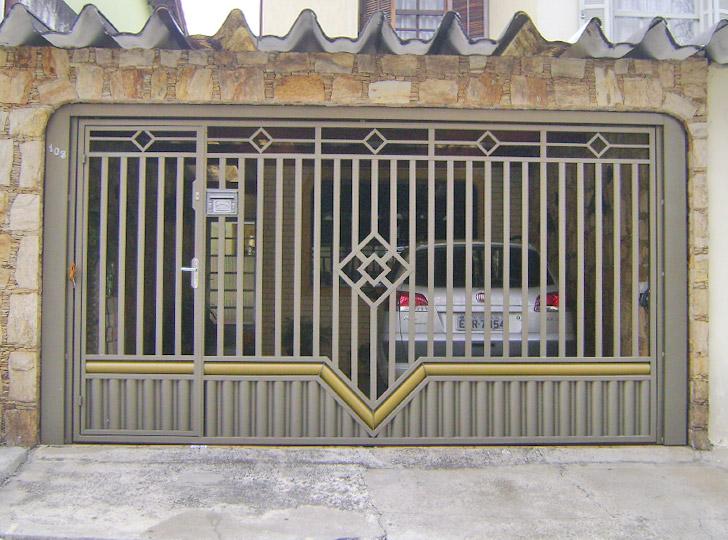 portão residencial com duas cores