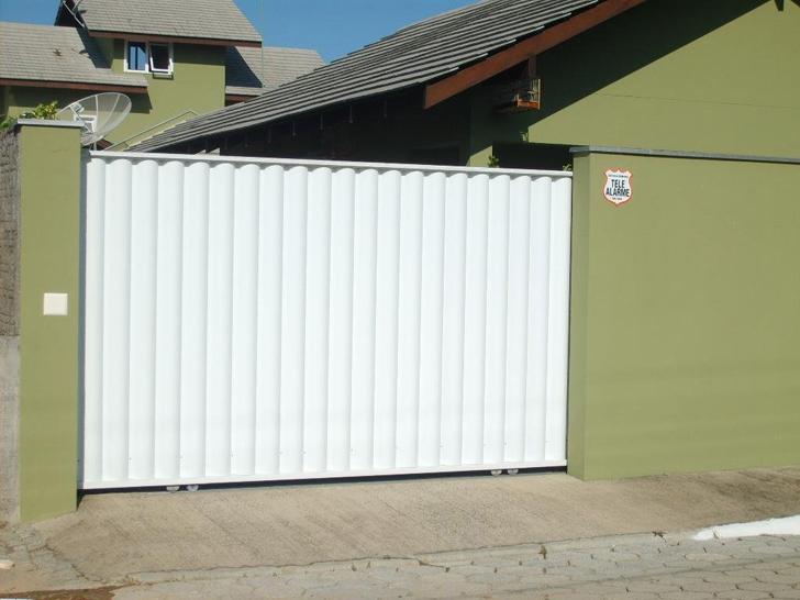 portão residencial branco