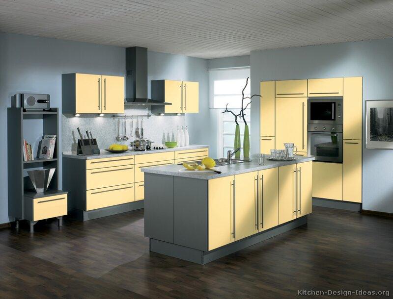 cozinha amarela com cinza e preto