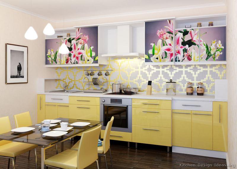 cozinha amarela com papel contact