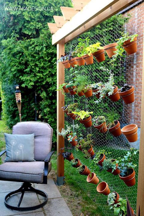 jardim vertical com tela