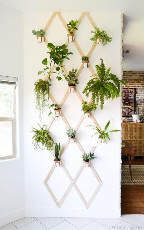 jardim vertical na treliça