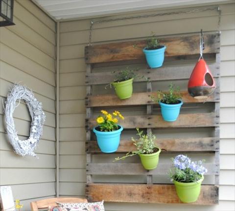 jardim vertical com vaso