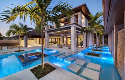 piscina com detalhes