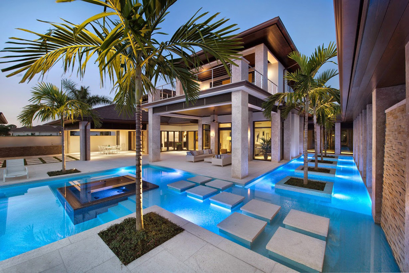 Decora o e projetos 30 modelos de piscinas modernas para for Modelos de piscinas medianas