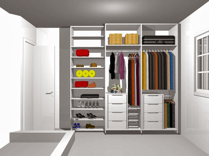 armário planejado com divisórias
