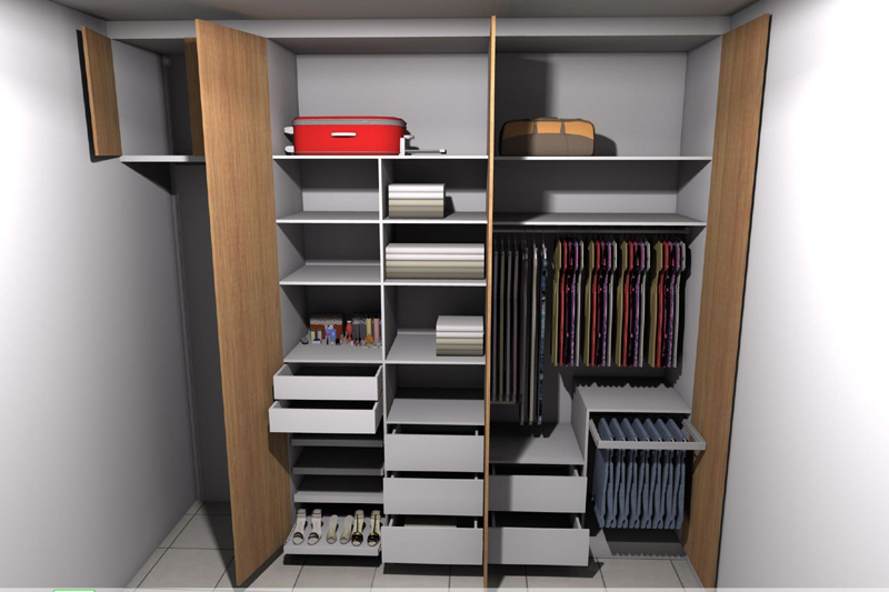 armário planejado compacto