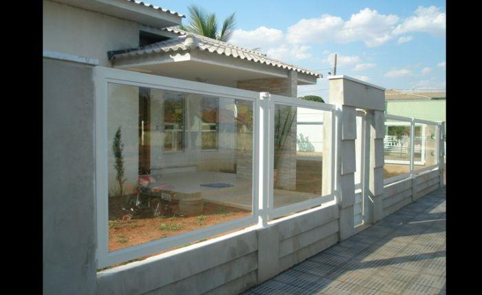 muro de residência vidro