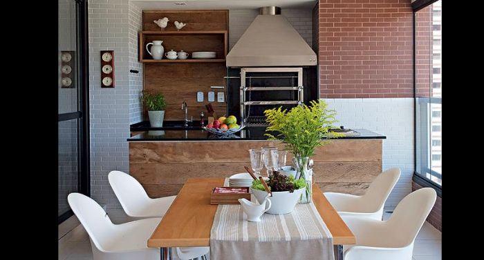 varanda rústica gourmet com churrasqueira