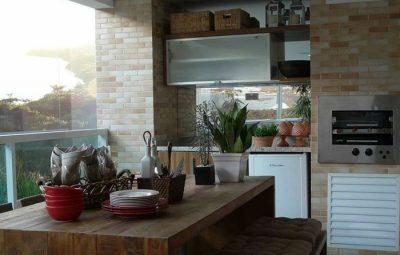 varanda rústica gourmet com tijolo