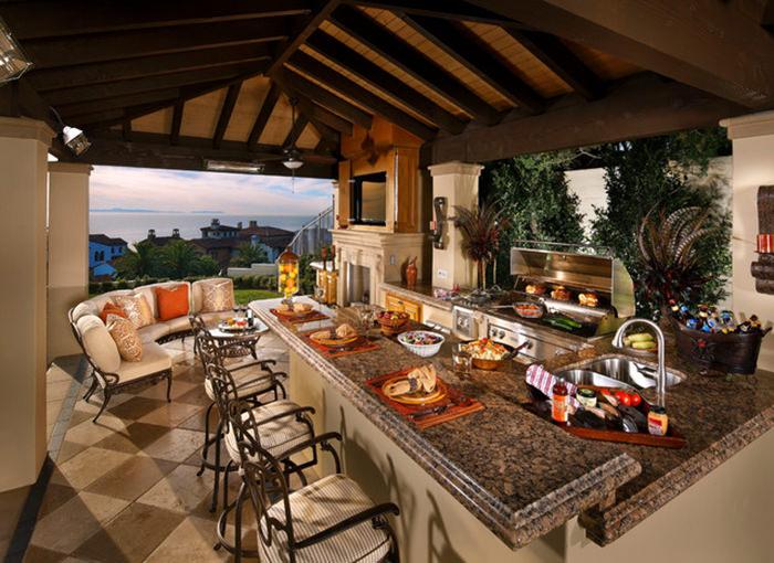 varanda rústica gourmet grande