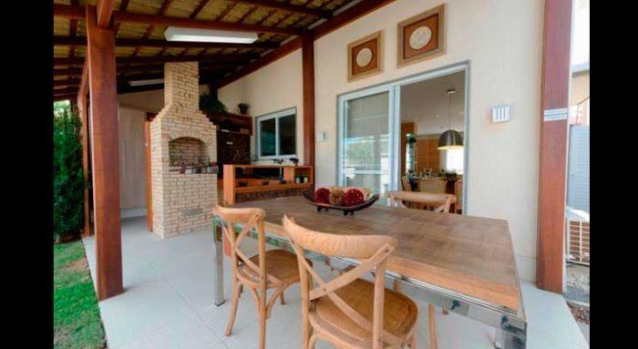 varanda rústica gourmet simples