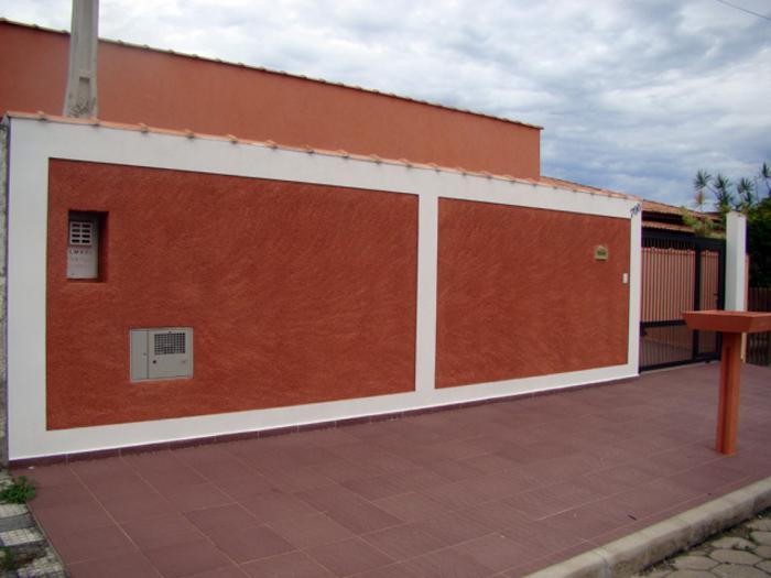 muro de residência terroso