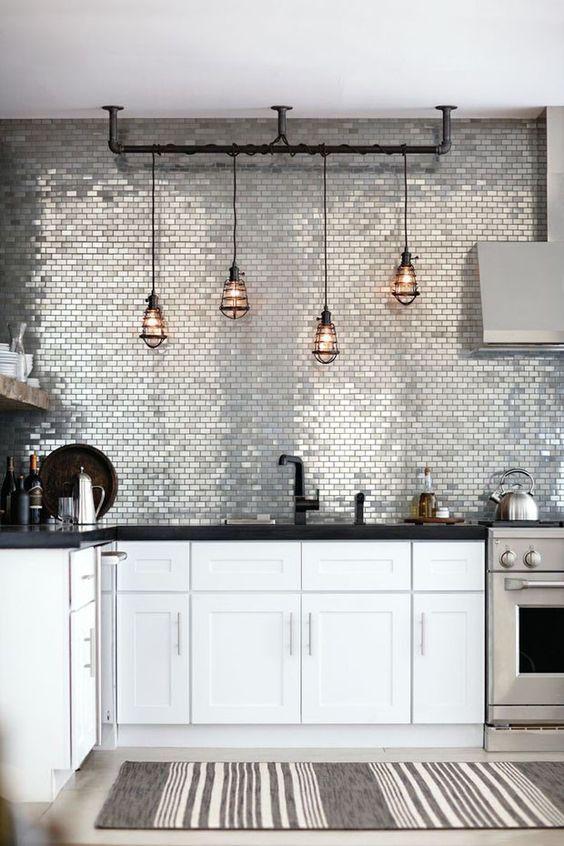 revestimento para parede de cozinha metalizado