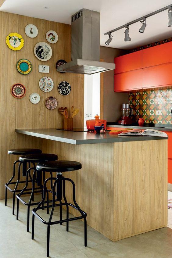 revestimento para parede de cozinha sobrio