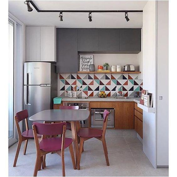 revestimento para parede de cozinha geometrico