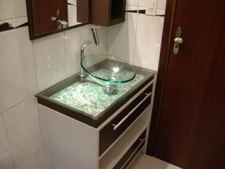 cuba para banheiro luz