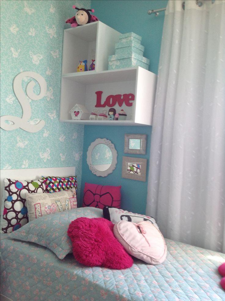 quarto de menina com nicho